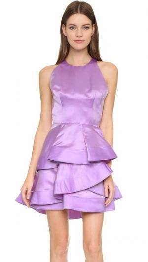 Платье Caroline Alex Perry. Цвет: фиолетовый/белый/черный