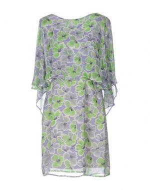 Короткое платье PAOLA FRANI. Цвет: зеленый