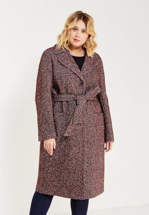 Пальто Electrastyle. Цвет: бордовый