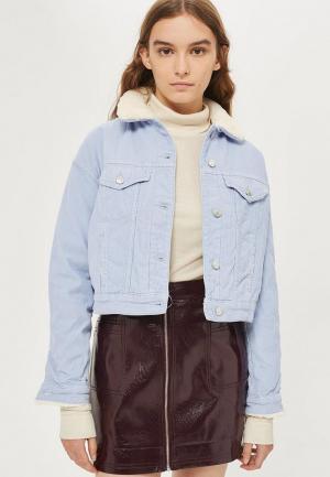 Куртка Topshop. Цвет: голубой