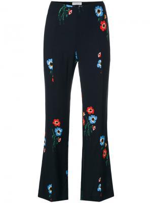Расклешенные брюки с цветочным принтом Sonia By Rykiel. Цвет: синий