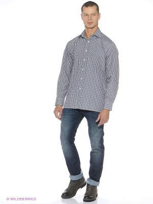 Рубашка LIVANSO. Цвет: зеленый, серый