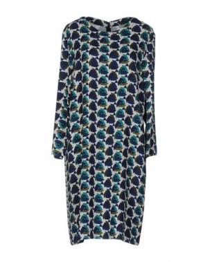 Платье до колена LAURA URBINATI. Цвет: цвет морской волны