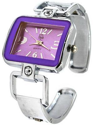 Часы Taya. Цвет: серебристый, сиреневый