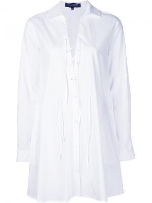 Платье-рубашка с V-образным вырезом Thakoon. Цвет: белый