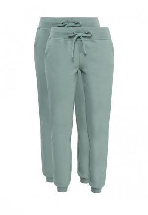 Комплект брюк 2 шт. oodji. Цвет: бирюзовый