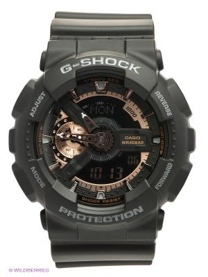 Часы G-SHOCK GA-110RG-1A CASIO. Цвет: черный