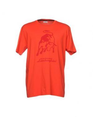 Футболка AUTOMOBILI LAMBORGHINI. Цвет: оранжевый