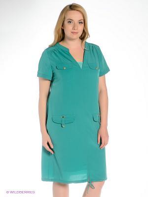 Платье Gemko plus size. Цвет: зеленый