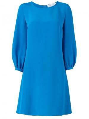Расклешенное платье Gianluca Capannolo. Цвет: синий