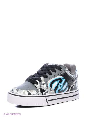 Роликовые кроссовки Heelys. Цвет: серый, белый, голубой, черный