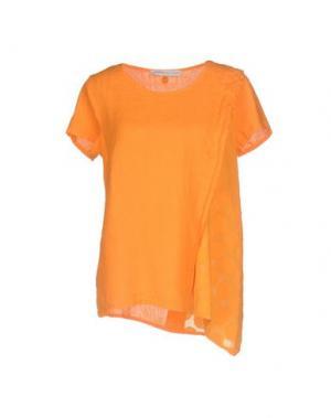 Блузка LA FABBRICA del LINO. Цвет: оранжевый