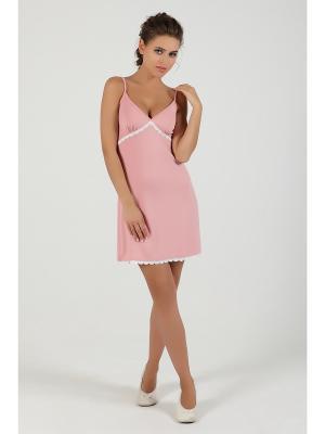 Ночная сорочка NicClub. Цвет: розовый