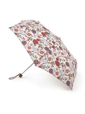 Зонт женский механика Fulton. Цвет: бежевый