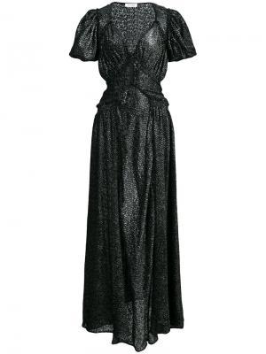 Вечернее платье с глубоким вырезом Attico. Цвет: чёрный