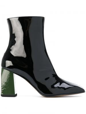 Ботинки с заостренным носком Ssheena. Цвет: чёрный