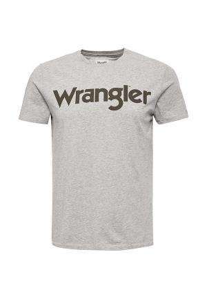 Футболка Wrangler. Цвет: серый