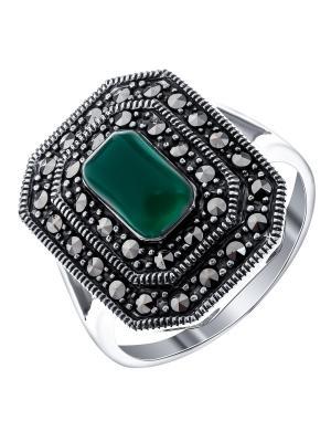 Кольцо Teosa. Цвет: темно-зеленый