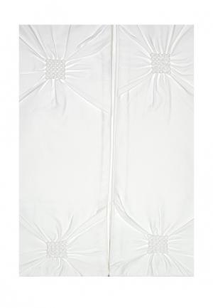 Комплект постельного белья Евро Asabella. Цвет: белый