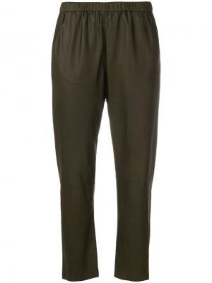 Cropped trousers Drome. Цвет: зелёный