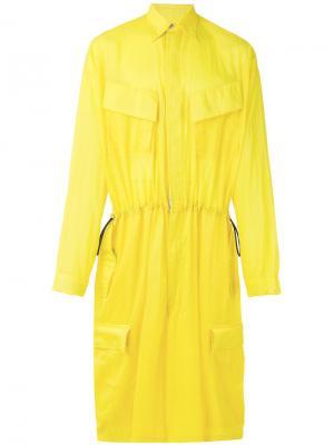 Укороченный костюм с фотопринтом Sankuanz. Цвет: жёлтый и оранжевый