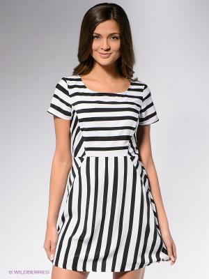 Платье STRIPED DRESS MAVI. Цвет: черный