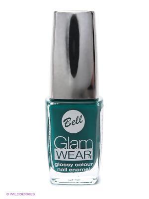 Устойчивый лак для ногтей с глянцевым эффектом Glam Wear, тон 542 Bell. Цвет: бирюзовый