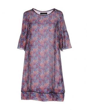 Короткое платье KRISTINA TI. Цвет: фиолетовый