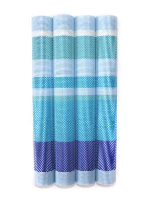 Плейсматы,4 шт DiMi. Цвет: голубой
