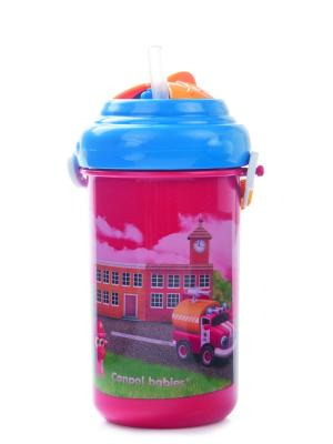 Поильник спортивный с крышкой и трубочкой, 400 мл. 12+ Vehicles, цвет: красный Canpol babies. Цвет: красный