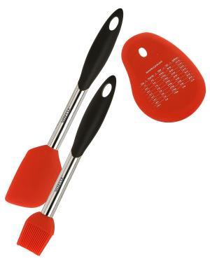 Кухонный Набор Vitesse. Цвет: черный, красный, серебристый
