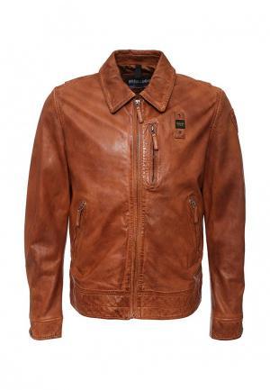 Куртка кожаная Blauer. Цвет: коричневый