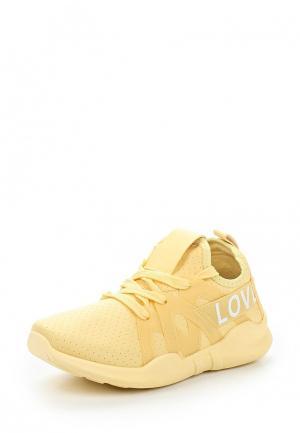 Кроссовки Ideal Shoes. Цвет: желтый