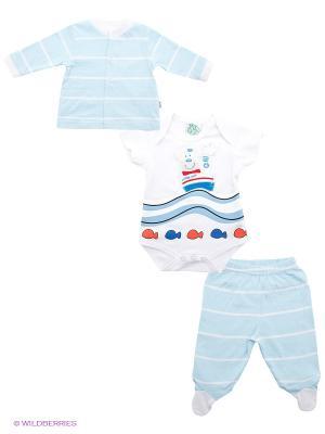 Комплект FS Confeccoes. Цвет: светло-голубой, белый