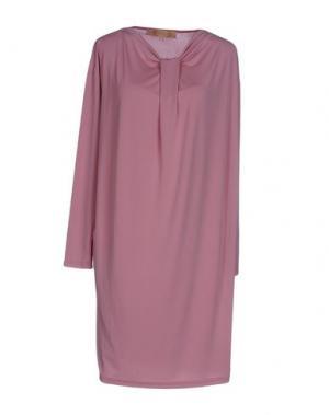 Короткое платье BONSUI. Цвет: розовый