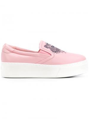 Кеды K-PY Tiger Kenzo. Цвет: розовый и фиолетовый