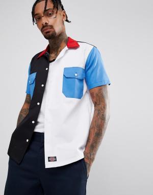 Dickies Контрастная рубашка с карманами Ovalo. Цвет: темно-синий