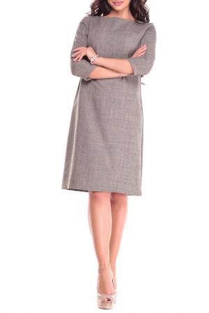 Платье MAURINI. Цвет: бежевый, хаки