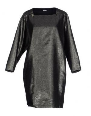 Короткое платье LES PRAIRIES DE PARIS. Цвет: свинцово-серый