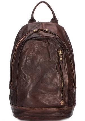 Коричневый кожаный рюкзак Campomaggi. Цвет: коричневый