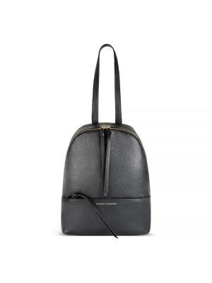 Рюкзак с ручкой золотой фурнитурой Avanzo Daziaro. Цвет: черный