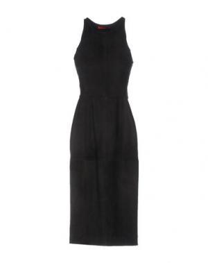 Платье длиной 3/4 TAMARA MELLON. Цвет: темно-зеленый