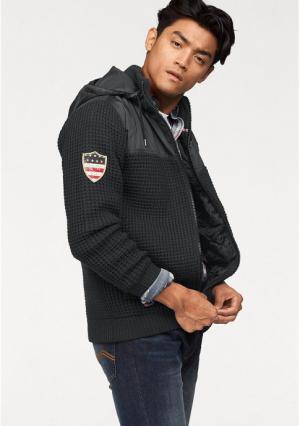 Трикотажная куртка Rhode Island. Цвет: темно-серый