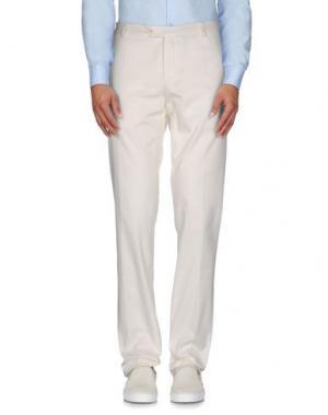 Повседневные брюки PAOLONI. Цвет: белый