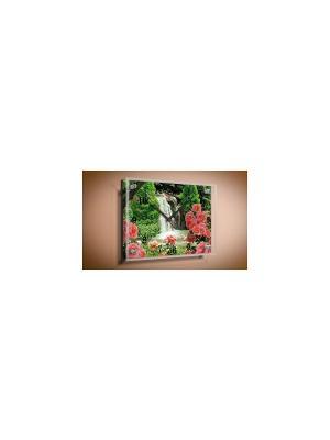 Настенные часы Водопад PROFFI. Цвет: белый, зеленый, розовый, светло-зеленый, черный