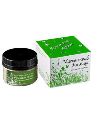Маска для лица Крымские травы Крымская Натуральная Коллекция. Цвет: белый
