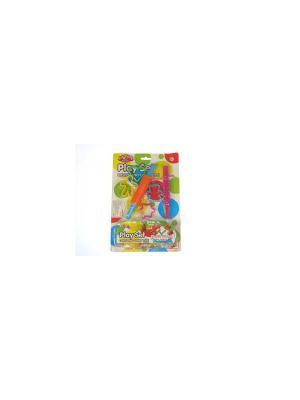 Н-р пластилина 2цв.х50гр с формочками и инструментом Азбука Тойс. Цвет: зеленый