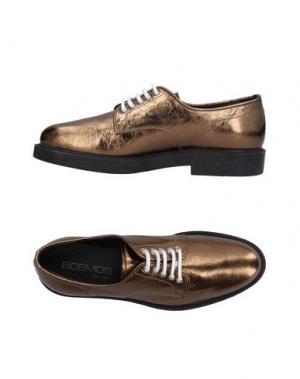 Обувь на шнурках BOEMOS. Цвет: золотистый