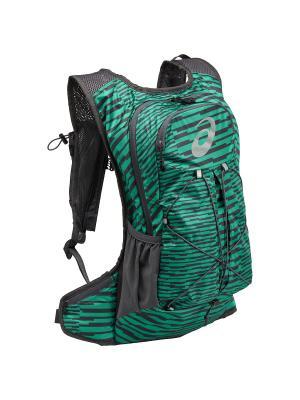Рюкзак LIGHTWEIGHT RUNNING BACKPACK ASICS. Цвет: зеленый, серый