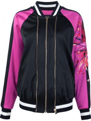 Куртка-бомбер с вышивкой на рукавах Alexandre Vauthier. Цвет: чёрный
